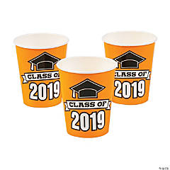 Orange Class of 2019 Cups