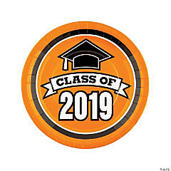 Orange Class of 2019 Dinner Plates