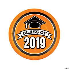 Orange Class of 2019 Paper Dinner Plates - 25 Ct.