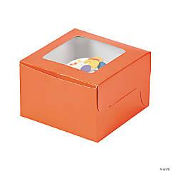 Orange Cupcake Boxes