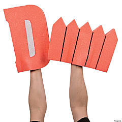 Orange D Fence Foam Hands