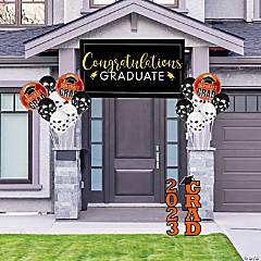Orange Graduation Outdoor Decorating Kit
