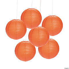 Orange Hanging Paper Lanterns