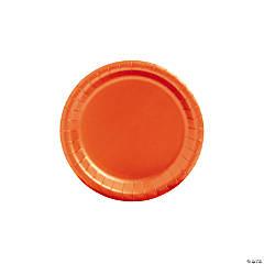 Orange Paper Dessert Plates - 24 Ct.
