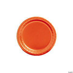 Orange Paper Dessert Plates