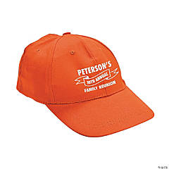 Orange Personalized Family Tree Baseball Caps