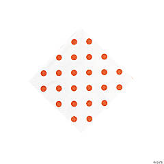Orange Polka Dot Beverage Napkins