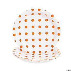 Orange Polka Dot Dessert Plates