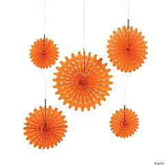 Orange Pumpkin Purée Tissue Hanging Fans