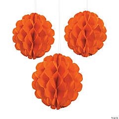 Orange Pumpkin Purée Tissue Paper Balls