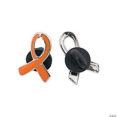 Orange Ribbon Pins