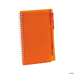 Orange Spiral Notebooks with Pens