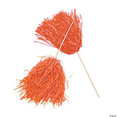 Orange Spirit Cheer Pom-Poms - 24 Pc.