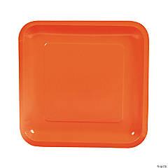 Orange Square Paper Dinner Plates - 18 Ct.