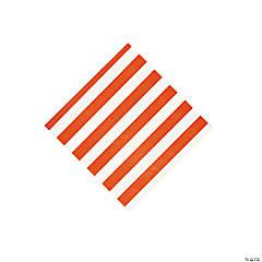 Orange Striped Beverage Napkins
