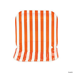 Orange Striped Square Dessert Plates - 8 Ct.