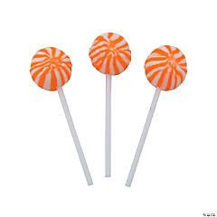 Orange Swirl Ball Lollipops