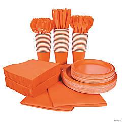 Orange Tableware Kit for 48 Guests