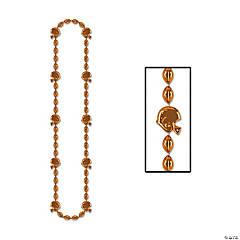 Orange Team Spirit Football Beaded Necklaces