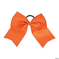Orange Team Spirit Hair Bow