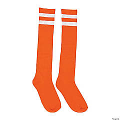 Orange Team Spirit Knee-High Socks