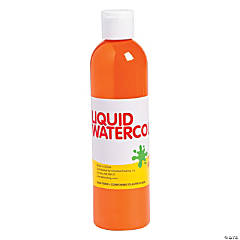 Orange Washable Liquid Watercolor Paint
