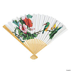 Oriental Wedding Hand Fan Assortment with Personalized Handles