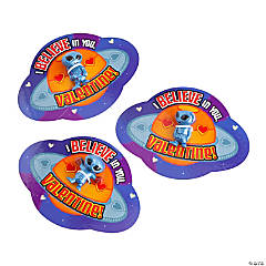Out-of-This-World Alien Toys with Valentine's Day Card - 48 Pc.