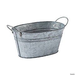 Oval Galvanized Bucket