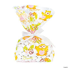 Owl Baby Shower Cellophane Bags