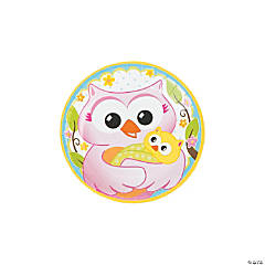 Owl Baby Shower Paper Dessert Plates - 8 Ct.