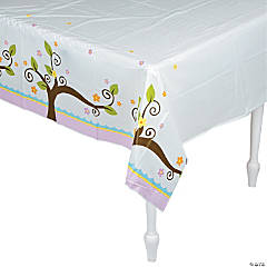 Owl Baby Shower Tablecloth