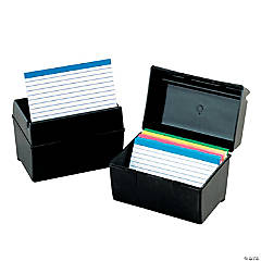 "Oxford Plastic Index Card Box, 3"" x 5"", Set of 6"