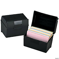 "Oxford® Plastic Index Card Box, 4"" x 6"", Set of 6"