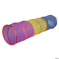 Pacific Play Tents Institutional See-Thru 6FT Tunnel - Blue / Green / Purple