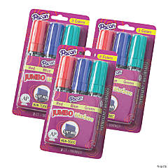 Pacon® Jumbo Markers, Assorted 3 Colors, 5/8