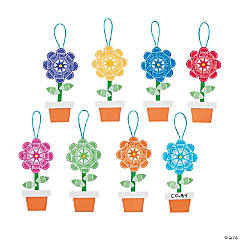 Paint Chip Flower Ornament Craft Kit