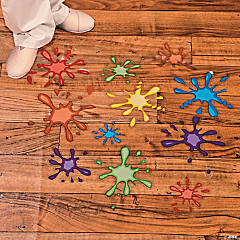 Paint Splatter Floor Clings