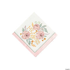 Painted Floral Beverage Napkins