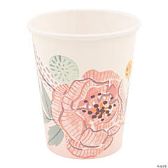 Painted Floral Cups