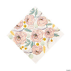 Painted Floral Luncheon Napkins