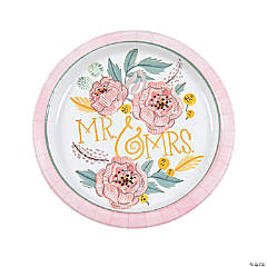 Painted Floral Paper Dinner Plates - 8 Ct.