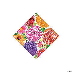 Painted Spring Floral Beverage Napkins
