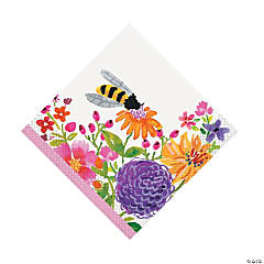 Painted Spring Floral Luncheon Napkins