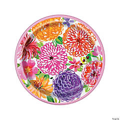 Painted Spring Floral Paper Dinner Plates - 8 Ct.