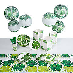 Palm Leaf Party Tableware Kit For 8 Guests