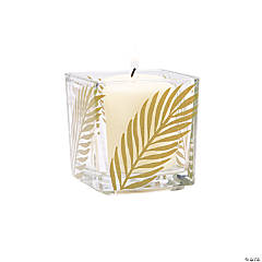 Palm Leaf Square Votive Holders