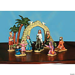 Palm Sunday Scene Set