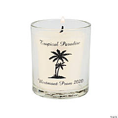 Palm Tree Luau Personalized Votive Candle Holders