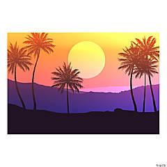 Palm Tree Sunset Backdrop Banner